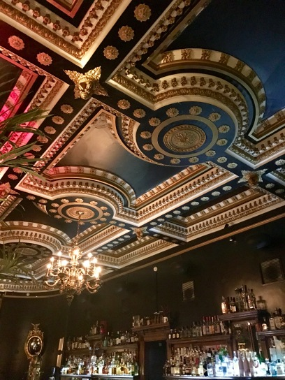 The ceiling in The Voodoo Rooms... very cool decor with a New Orleans feel!