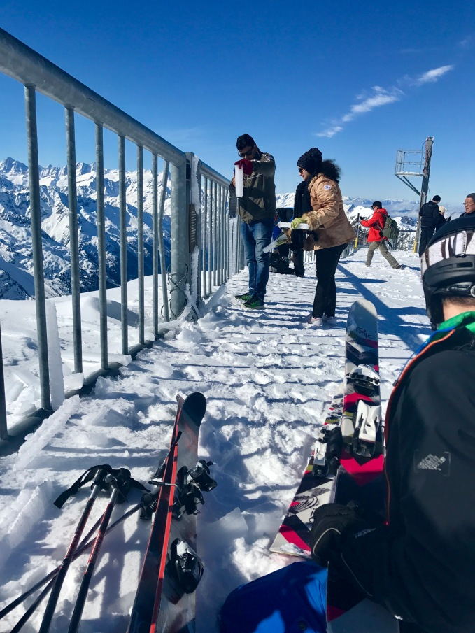 The tourists seeing icicles and snow for the first time were having an absolute blast
